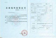 上海公司申办企业境外投资备案材料